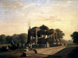 Ancient Temple at Hulwud, 1826 by William Frederick Witherington