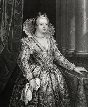 Marie De Medici Engraving by William French