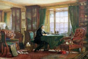 John Ruskin in His Study at Brantwood, Cumbria, 1882 by William Gersham Collingwood