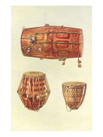 Types of Indian Drums, 1888
