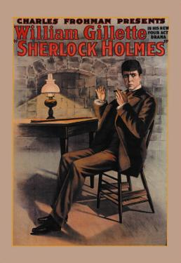 William Gillette as Sherlock Holmes