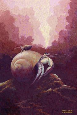 A Painting of a Hermit Crab by William H. Crowder