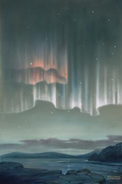 Drape-Like Shapes are Formed by Aurora Australis Near Antarctica by William H. Crowder