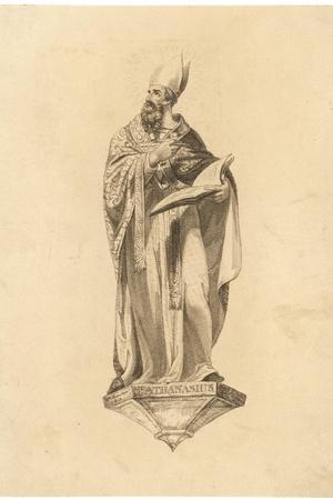 Athanasius with Book