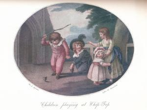 Children Playing at Whip-Top, 1910 by William Hamilton