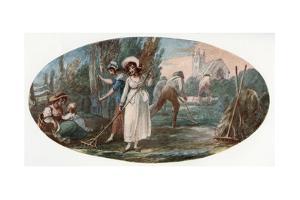 Haymaking by William Hamilton