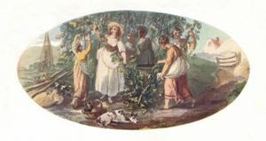 'Hop Picking', late 18th century, (1912) by William Hamilton