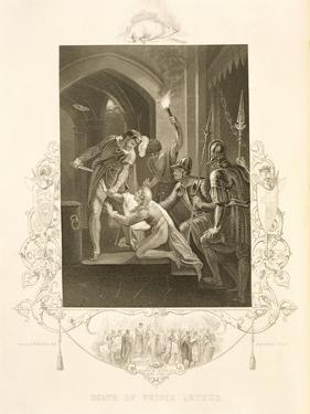 The Death of Prince Arthur, in King John by William Shakespeare (1564-1616) Engraved by J. Rogers by William Hamilton