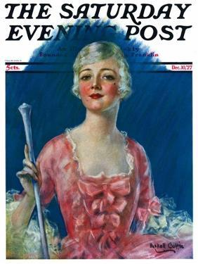 """""""Costumed Woman,"""" Saturday Evening Post Cover, December 10, 1927 by William Haskell Coffin"""