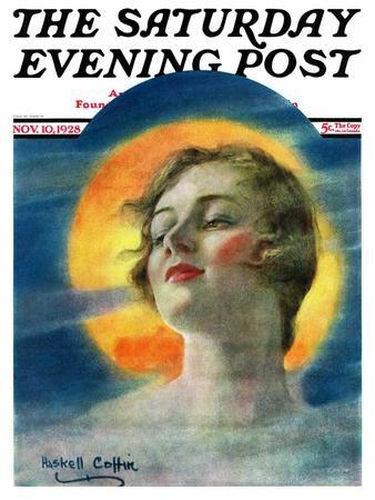 """Misty Harvest Moon,"" Saturday Evening Post Cover, November 10, 1928"