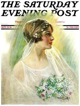 """""""September Bride,"""" Saturday Evening Post Cover, September 25, 1926 by William Haskell Coffin"""