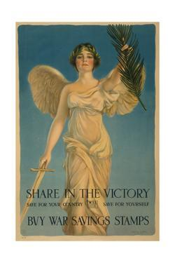 Share in the Victory, Buy War Savings Stamps', 1st World War poster, 1918 by William Haskell Coffin
