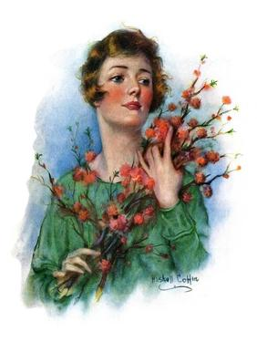 """""""Woman and Flowering Twigs,""""May 21, 1927 by William Haskell Coffin"""