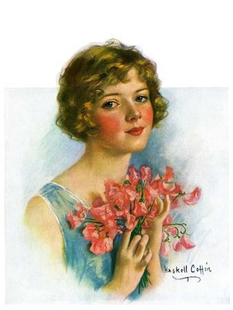 """""""Woman and Flowers,""""June 12, 1926"""