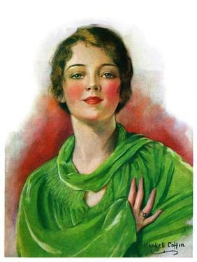 """""""Woman in Green,""""March 23, 1929 by William Haskell Coffin"""