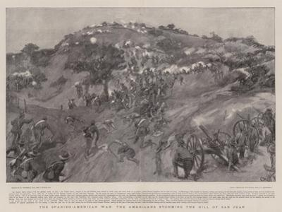 The Spanish-American War the Americans Storming the Hill of San Juan by William Hatherell