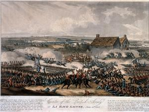 Centre of the British Army at La Haye Sainte During the Battle of Waterloo, Etched by Thomas… by William Heath