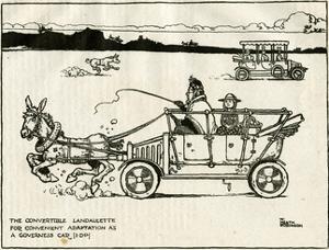 Adapted Motor Car Using a Donkey by William Heath Robinson