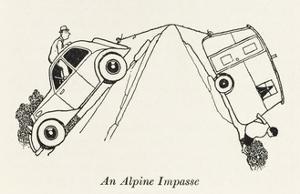 An Alpine Impasse by William Heath Robinson