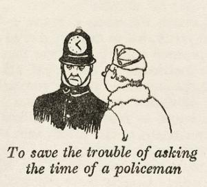 Asking Policeman Time by William Heath Robinson