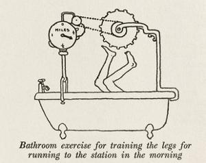 Bathroom Exercise by William Heath Robinson
