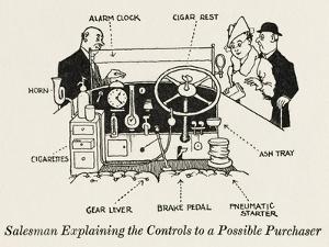 Car Controls by William Heath Robinson