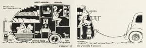 Caravan Interior by William Heath Robinson