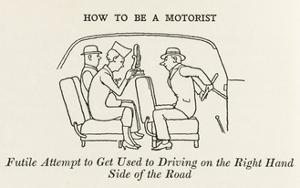 Driving on the Right Hand Side by William Heath Robinson