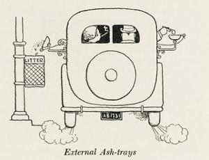 External Car Ashtrays by William Heath Robinson
