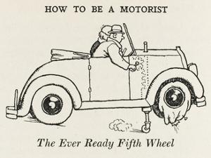Flat Tyre by William Heath Robinson