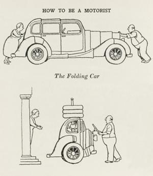 Folding Car by William Heath Robinson