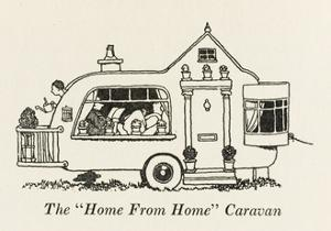 Home from Home Caravan by William Heath Robinson