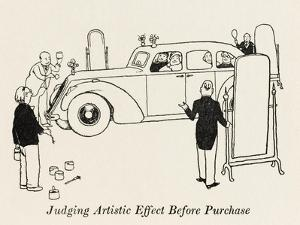 Judging Artistic Effect before Purchasing by William Heath Robinson