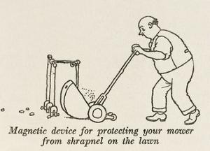 Lawn Mower Protector by William Heath Robinson