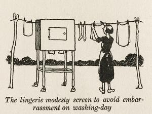 Lingerie Modesty Screen by William Heath Robinson