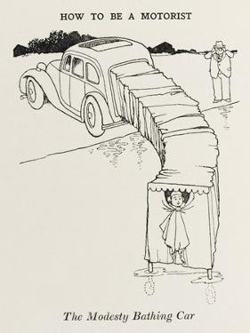 Modesty Bathing Car by William Heath Robinson