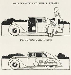 Portable Petrol Pump by William Heath Robinson