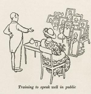 Public Speaking by William Heath Robinson