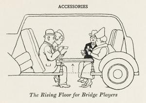 Rising Floor for Bridge Players by William Heath Robinson