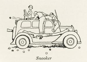Snooker Car by William Heath Robinson