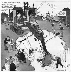 The Gentle Art of Excavating by William Heath Robinson
