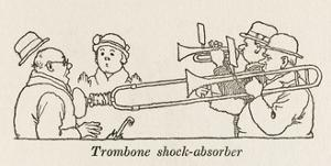 Trombone Shock Absorber by William Heath Robinson