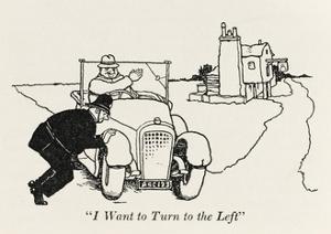 Turning Left by William Heath Robinson