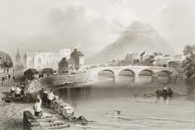 Ballina, County Mayo, from 'scenery and Antiquities of Ireland' by George Virtue, 1860s