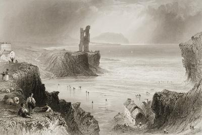 Ballybunnion, County Kerry, Ireland, from 'scenery and Antiquities of Ireland' by George Virtue,…