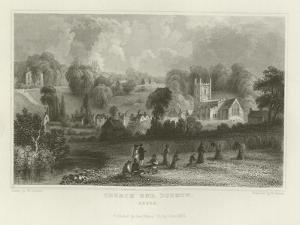 Church End, Dunmow, Essex by William Henry Bartlett
