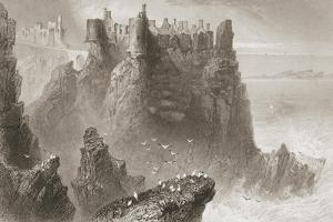 Dunluce Castle, County Antrim, Northern Ireland, from 'scenery and Antiquities of Ireland' by… by William Henry Bartlett