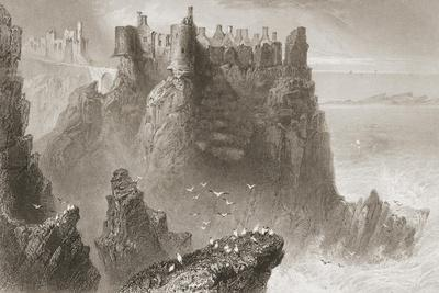Dunluce Castle, County Antrim, Northern Ireland, from 'scenery and Antiquities of Ireland' by…