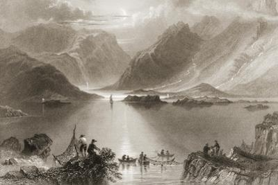 Killary Harbour, County Mayo, Ireland, from 'scenery and Antiquities of Ireland' by George… by William Henry Bartlett