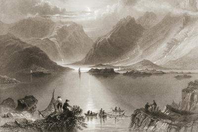 Killary Harbour, County Mayo, Ireland, from 'scenery and Antiquities of Ireland' by George…